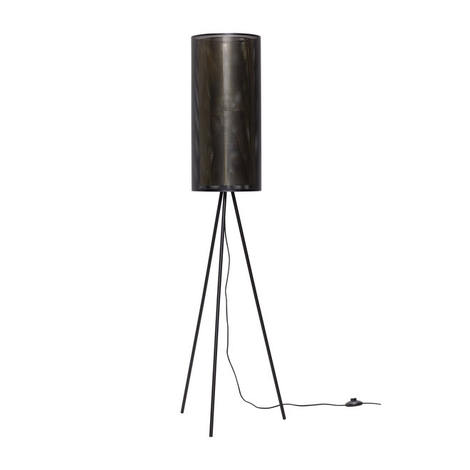 Vloerlamp metaal zwart/goud