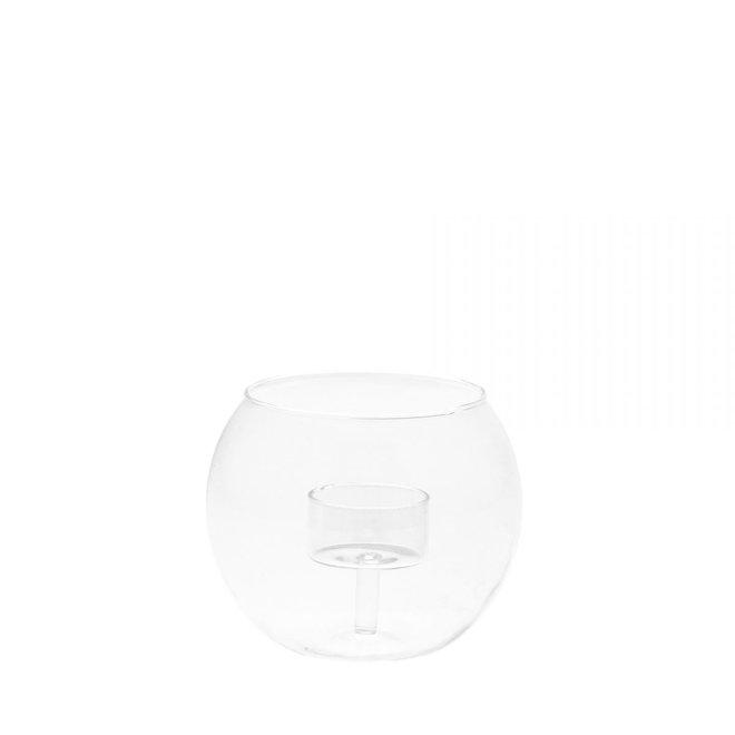 Waxinelichthouder glas | L