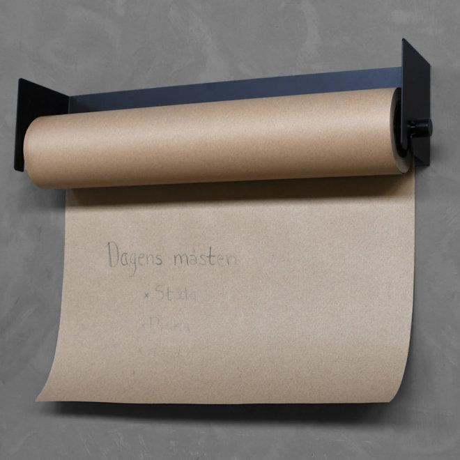 Paperholder met kraft rol | zwart