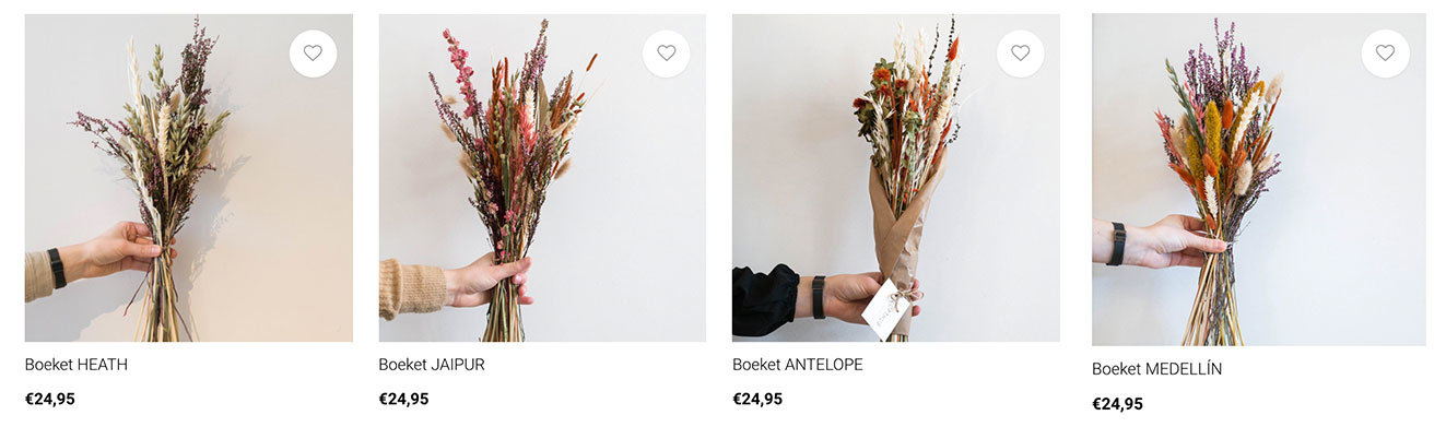 creatief met droogbloemen online boeketjes