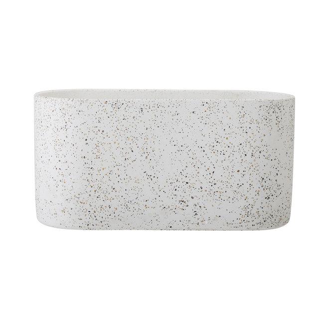 Bloempot terrazzolook beton
