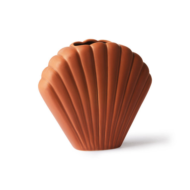 Keramieken vaas Shell | brown