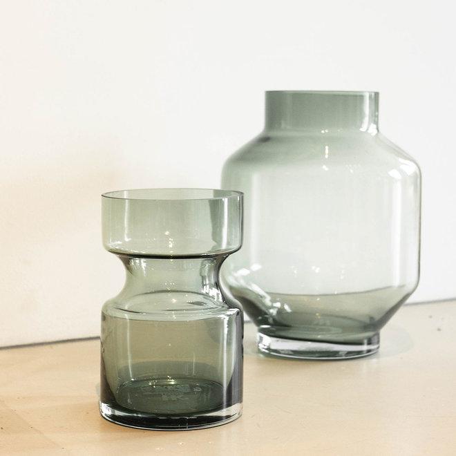Groene glazen vaas | M