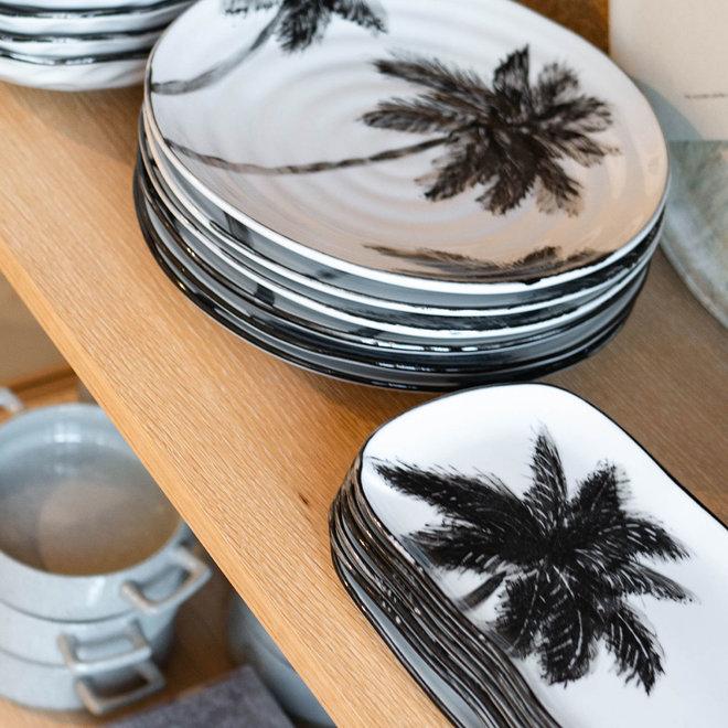Porseleinen serveerschaal laag | Palms