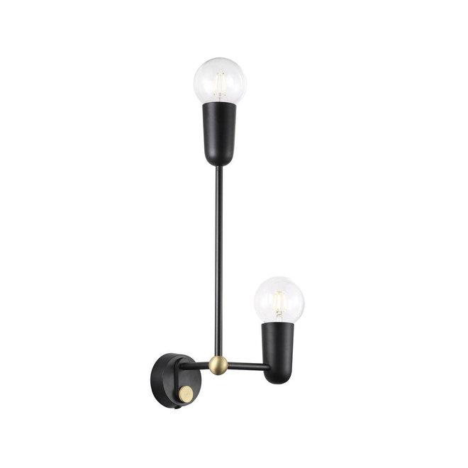 Wandlamp Manhattan - Zwart