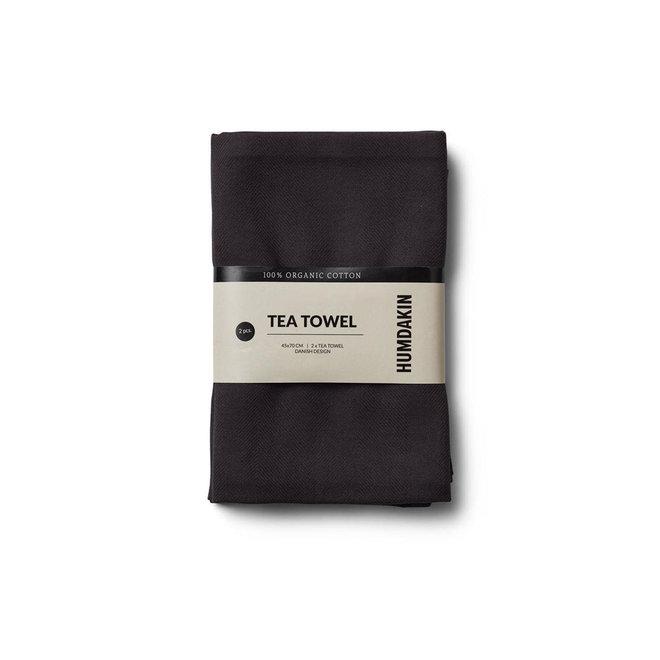 Theedoek (2-pack) 100% biologisch katoen | zwart