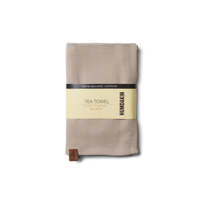 Theedoek (2-pack) 100% biologisch katoen | light stone