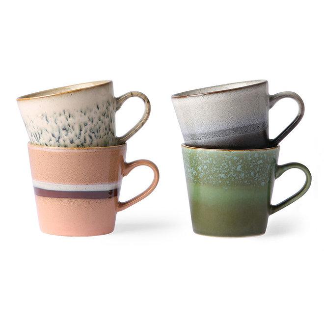 Cappuccinno mokken 70's ceramics | set van 4