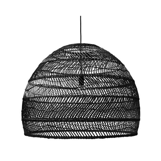 Hanglamp rotan 60cm | zwart