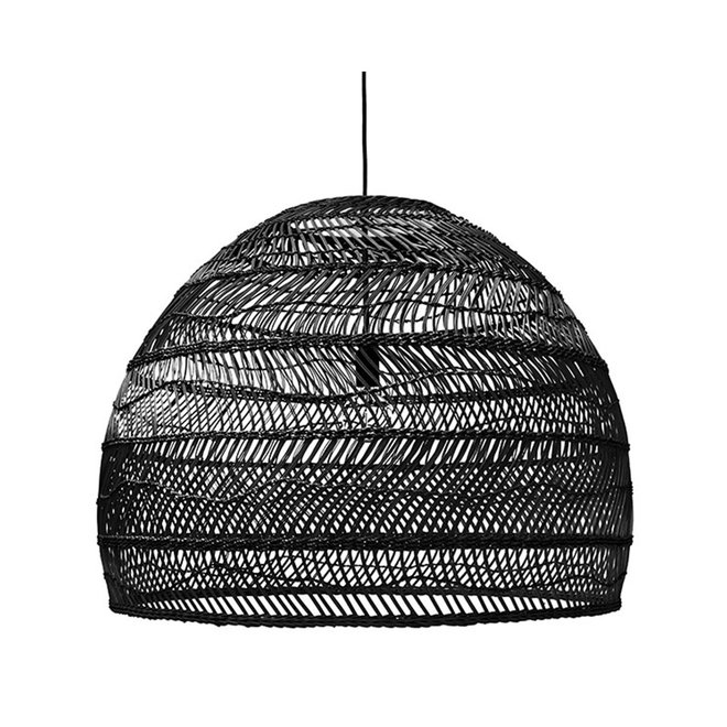 Hanglamp rotan L80cm | zwart
