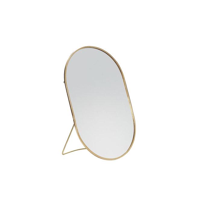 Ovale spiegel met standaard | goud