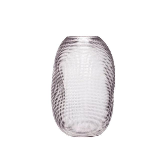 Vaas gerookt glas | grey H30cm