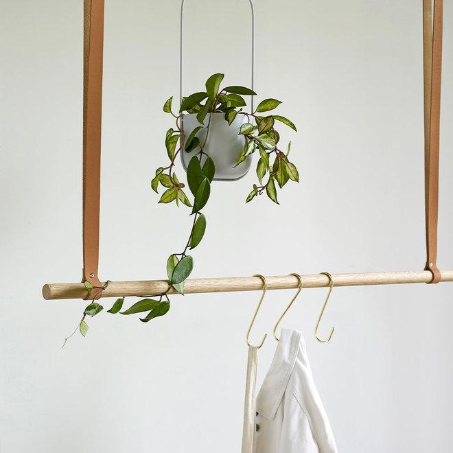 Bloempot (hangend) | lichtgrijs