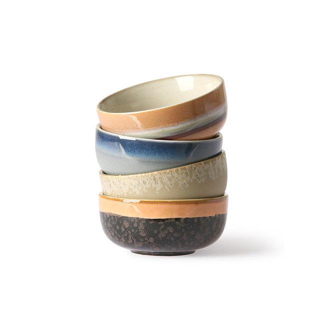 Set van 4 tapasschaaltjes   70's ceramics
