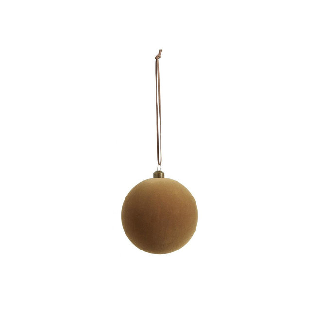 Kerstbal oker/bruin | S