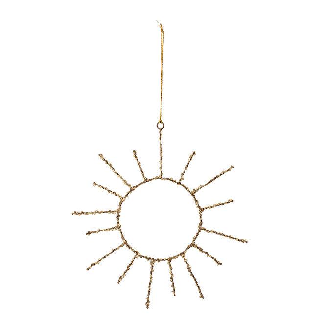 Goud ornament van de zon   30cm