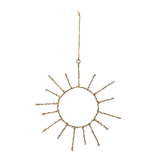 Goud ornament zon | 30cm