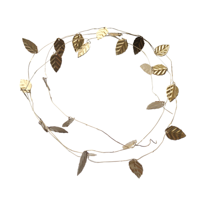 Krans met 30 gouden blaadjes