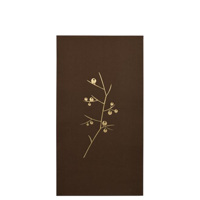 Papieren servetten bruin/goud | 20 st.