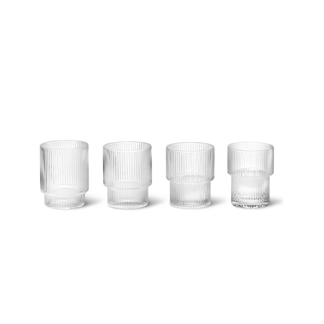 Ripple glazen | set van 4