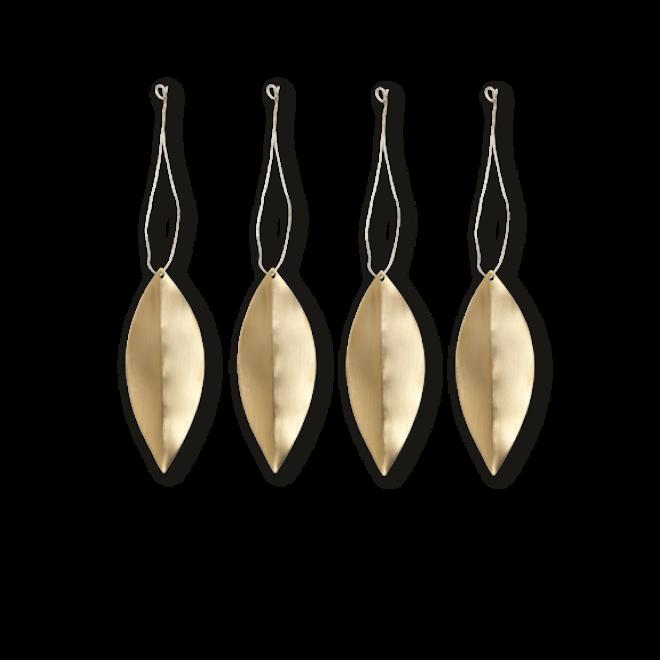 Messing leaf ornaments | set van 4