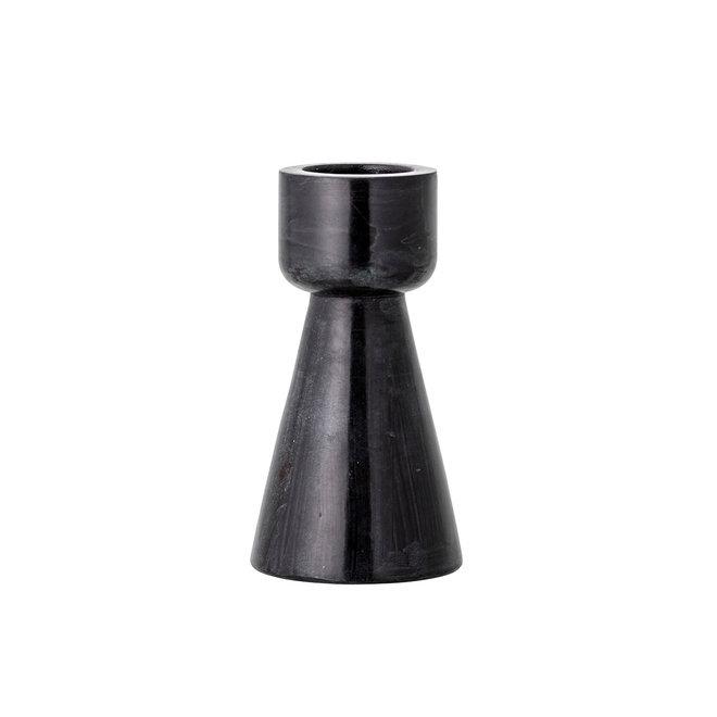 Waxinelichthouder zwart soapstone