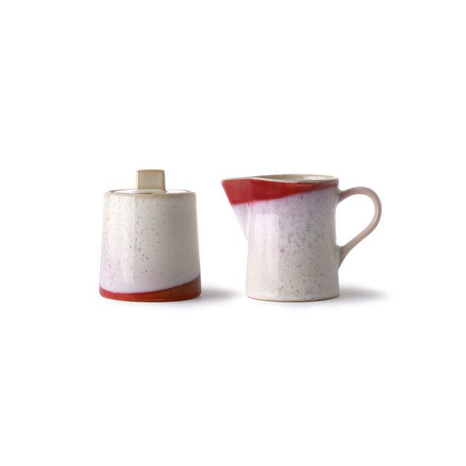 Melkkannetje + suikerpotje   70's ceramics