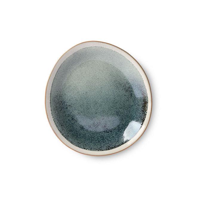 Bord bijgerecht 'mist' | 70's ceramics