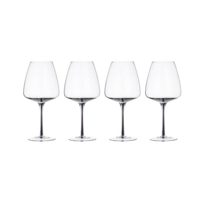 Wijnglas Smoked 65cl - Set van 4