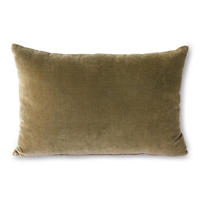 Velvet sierkussen | army green
