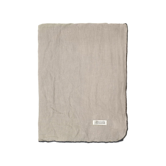 Luxe tafellaken Simply taupe - 3 mtr