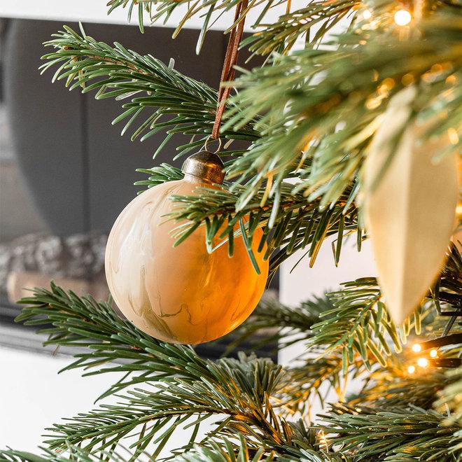 Kerstbal Artful | bruin