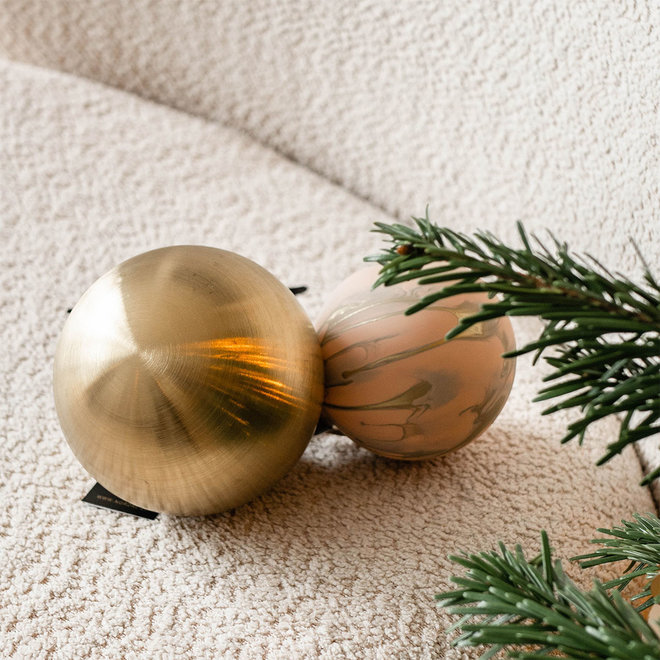 Gouden kerstbal - L