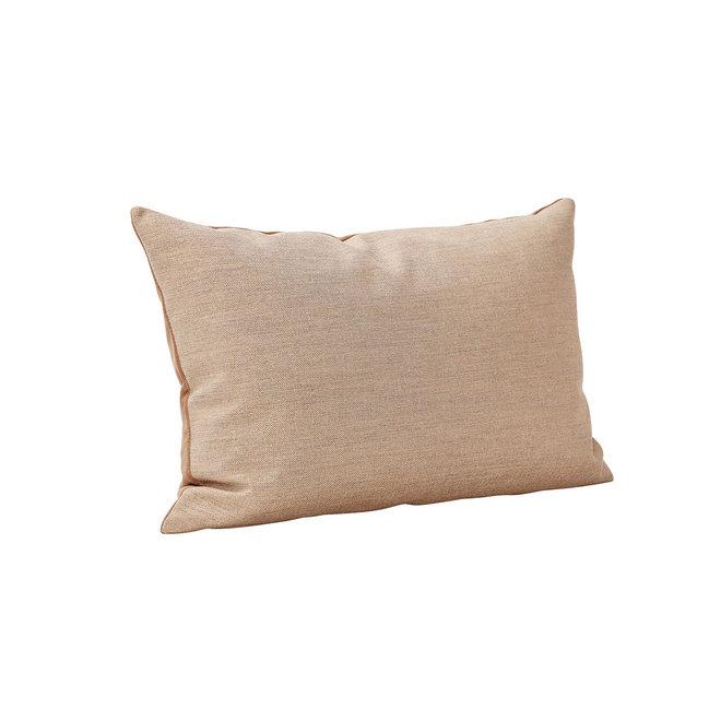 Sierkussen velour/polyester | bruin/grijs