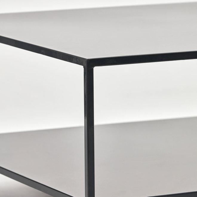 Salontafel vierkant | zwart metaal