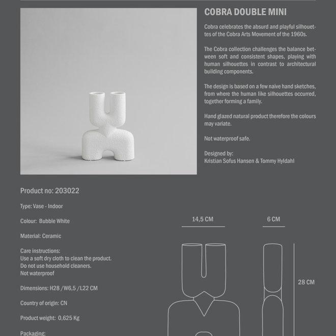Cobra Double, Mini - Bubble White