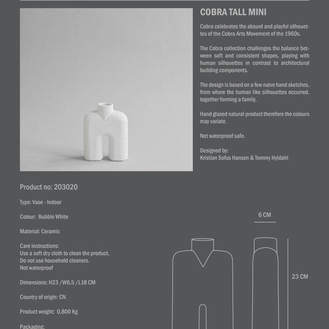 Cobra Tall, Mini - Bubble White