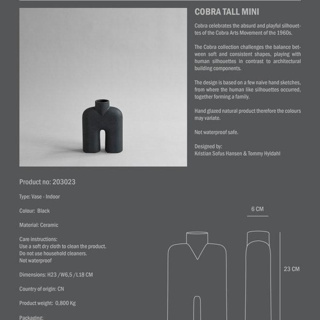 Cobra Tall, Mini - Black