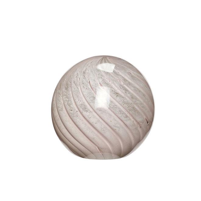 Glazen bol | large | lichtroze