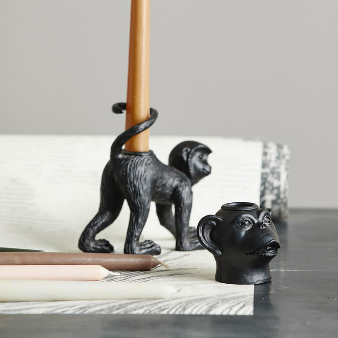 Kandelaar Monkey | Zwart