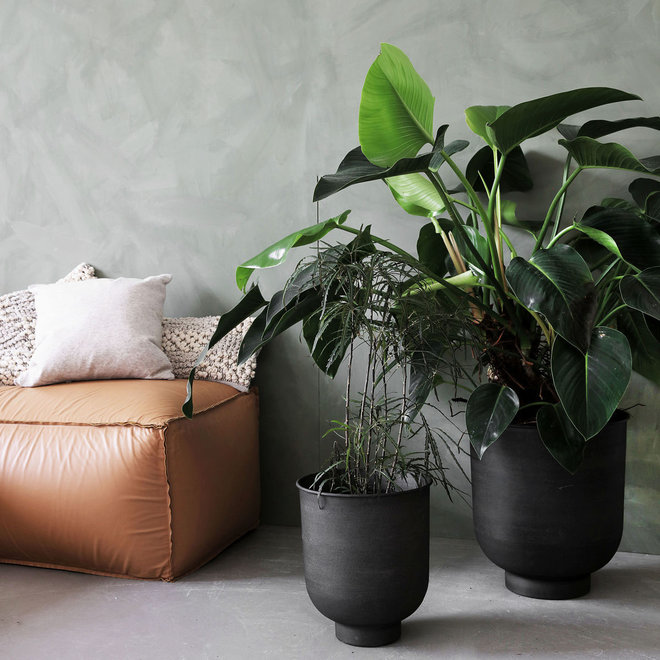 Set bloempotten | antraciet