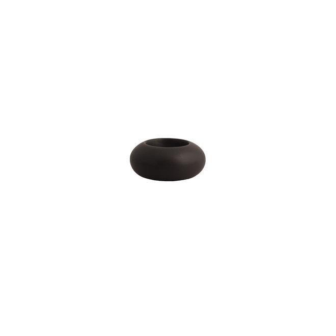 Waxinelichthouder Sandviken | zwart