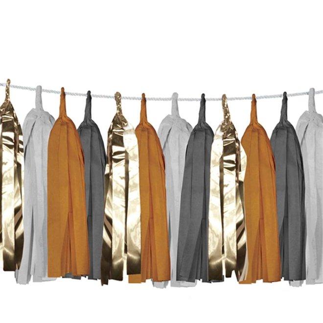 Slinger tassels Ochre/Gold - 3 meter