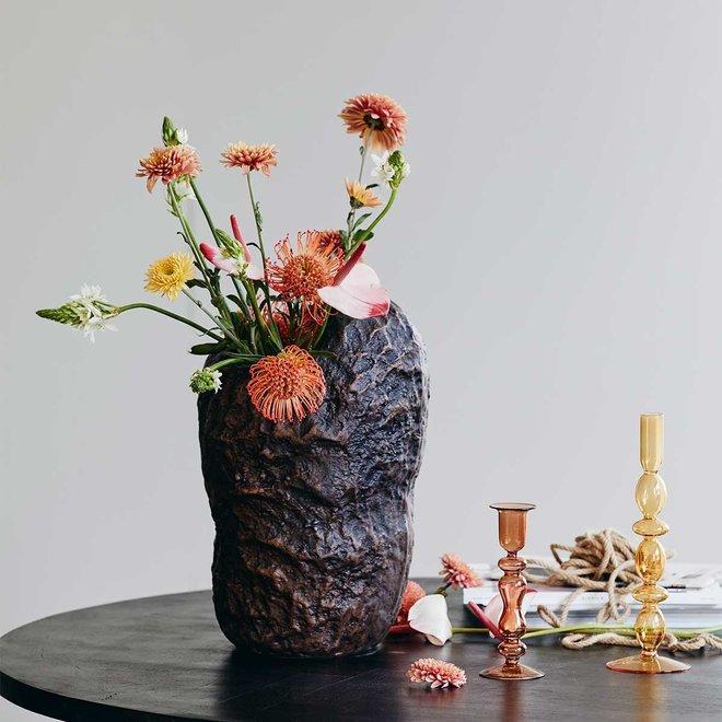 Glazen kandelaar Coral
