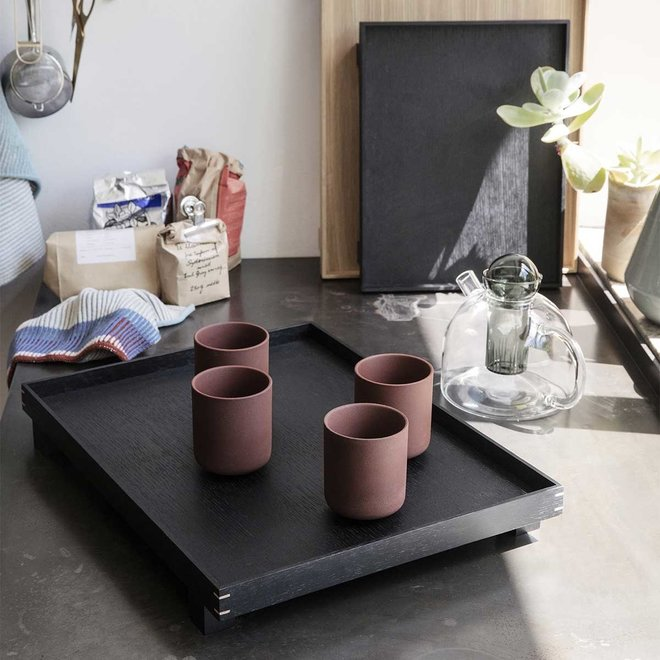 Houten dienblad | Stained Black