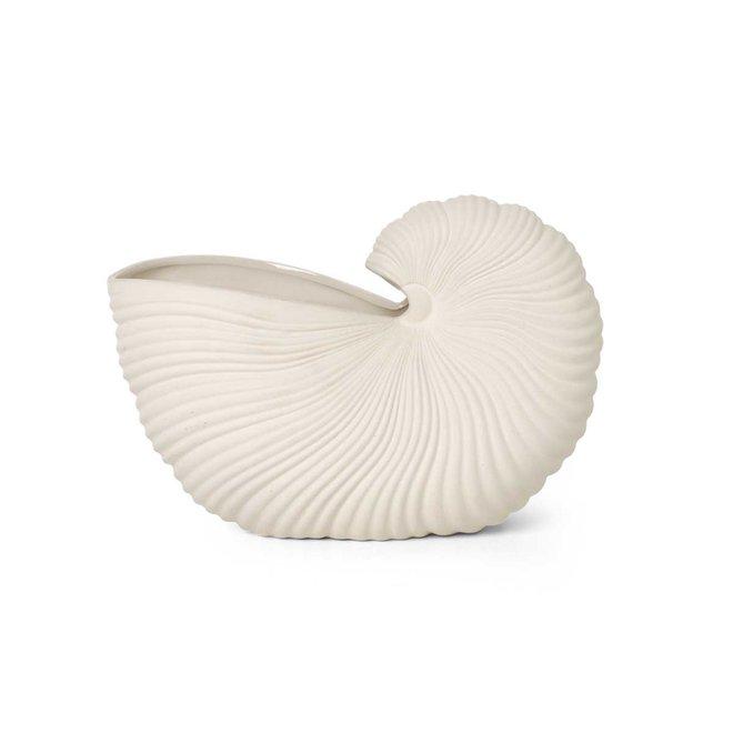 Shell Pot   White
