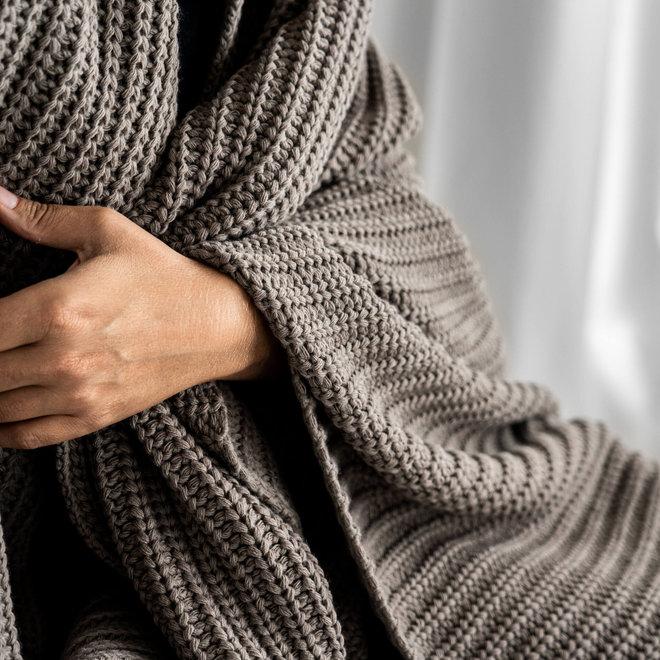 Plaid soft weave | latte