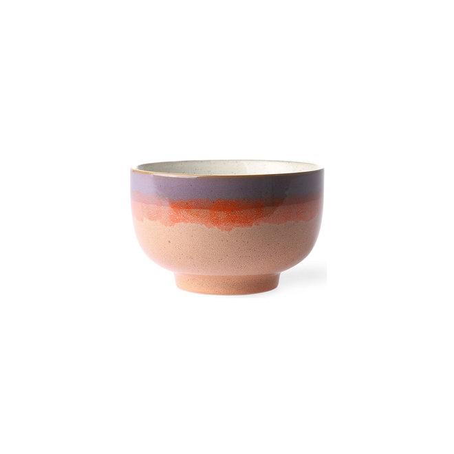 "Noodle schaal ""sunset""   70's ceramics"