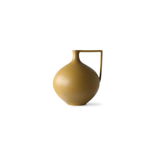 Keramieken fles/vaas | mustard