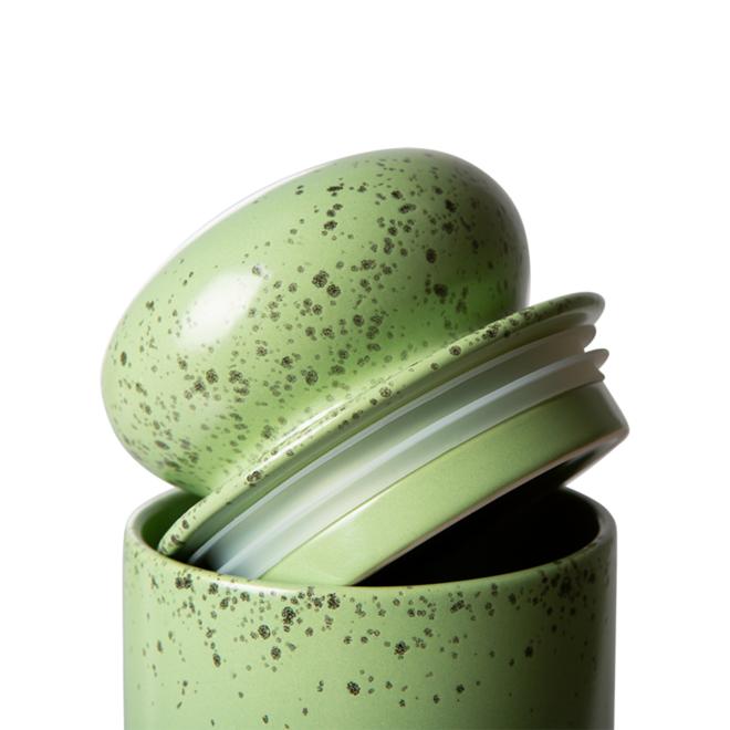 Voorraad pot 'Kiwi'   70's ceramics